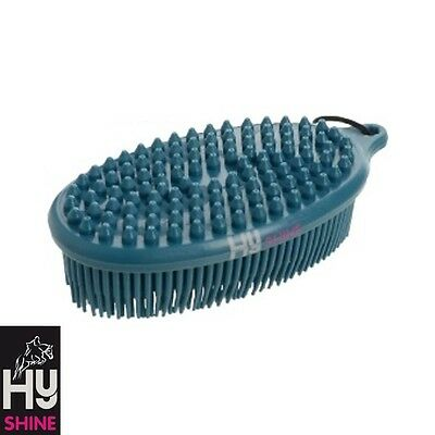 HyShine Pebble Brush – TEAL – two in one grooming tool – Mud, Stains – FREE P&P