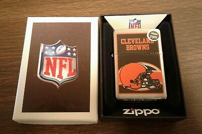 NFL Zippo lighter Cleveland Browns    Logo New In Box