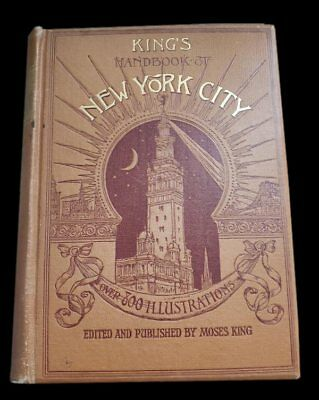 Moses Kings 1892 Handbook NEW YORK CITY NY Fifth Ave Central Park Railroads