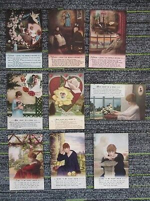 WW1 Bamforth Song Cards (3) Come To My/The Heart Of A Rose/When I Leave fc71-25