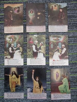 WW1 Bamforth Song Cards (3) Sweet Genieve/Wondrous Cross/The Girl I Left fc71-1