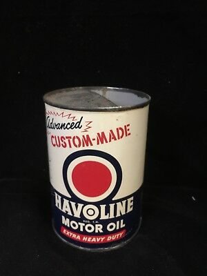 Pre-owned VINTAGE ORIGINAL Texaco Havoline   Motor Oil 1 Quart Can