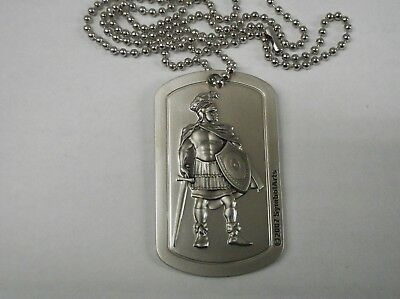 Armor Of God Medalion With Chain (Mens)