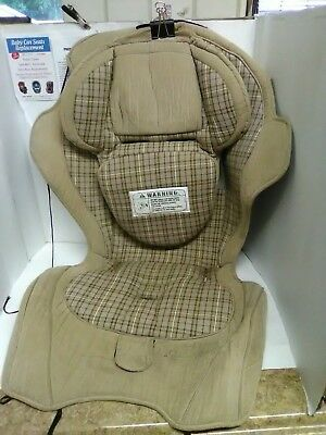 Eddie Bauer Convertible Booster Brown Car Seat Fabric Cover Cushion Replacement