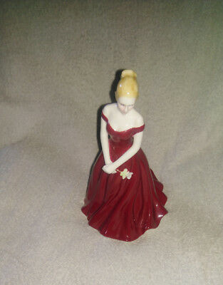 Royal Worcester Figurine Les Petites Christmas Rose Limited Edition Of 2000. A10