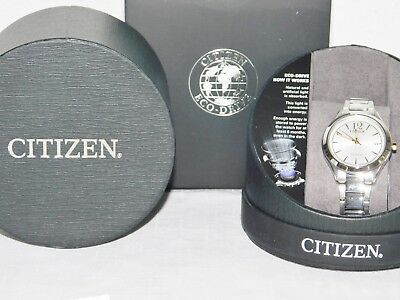 New Citizen Fe6124-51A Eco Drive Chandler Womens Watch Stainless Steel Date