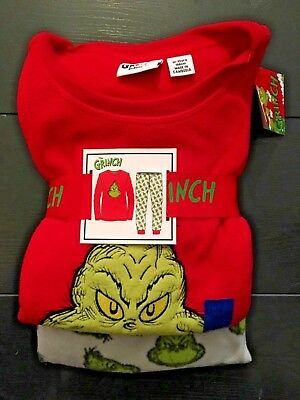 THE GRINCH Dr SEUSS Girls Boys Kids Soft Cosy Pyjama Set Primark Licensed