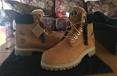 fcab2c1157f7 Size 10 Wheat OVO x Timberland 6 Inch Shearling Fur Wheat Waterproof Boot  Drake