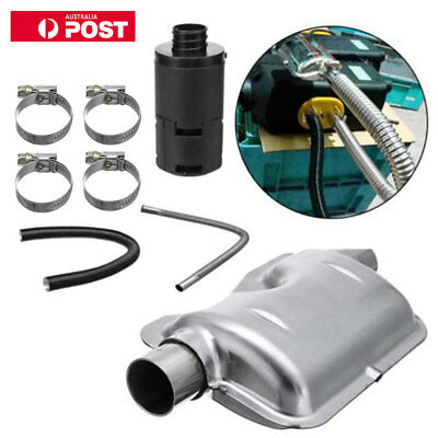 AU 24mm Exhaust Silencer+25mm Air Filter Accessory + Pipe For Air Diesel Heater