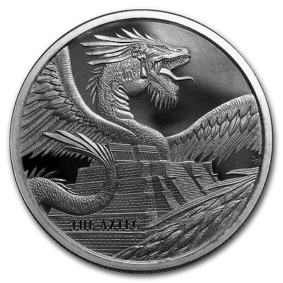 1 oz Silver Round - World of Dragons (The Aztec) - SKU#178949