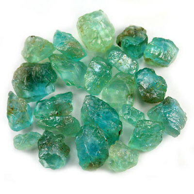 44.82 Ct.20 Pcs. Neon Blue Green Apatite Gemstone Rough Unheated Free Shipping!!