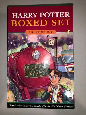 Harry Potter J.K Rowling Boxed Book Set Canada Printing 3 Books Lot