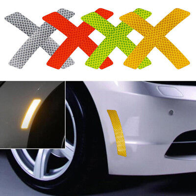2X Reflective Warning Strip Tape Car Bumper Reflector Stickers Decals Safety HOT