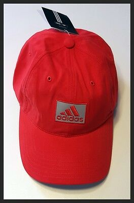 Adidas Adjustable Golf Cap - Bright Red - Brand New - New With Tags