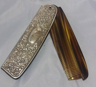 Antique Gorham Sterling Silver Comb Case with Comb