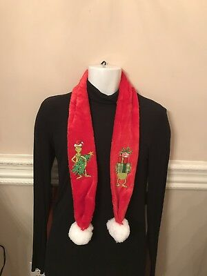 """GRINCH scarf...""""NWT"""" How The GRINCH Stole Christmas Clothing"""