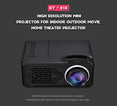 RD-814 1080P Portable LED Mini Video Projector Multimedia Home Theater Cinema