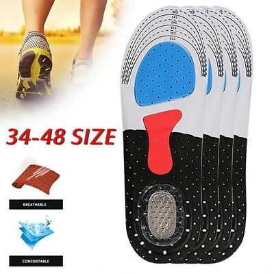 US Unisex Gel Orthotic Insole Insert Shoe Pad Sport Running Arch Support Cushion