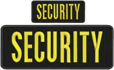 Security embroidery patch 4X10 and 2.x5 hook gold