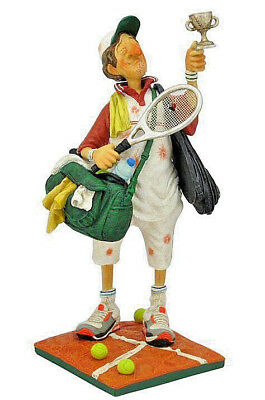 The Tennis Player Sculpture by Guillermo Forchino ~ Hand Made Detailed & Painted