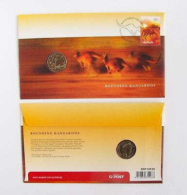 2007 $1 Coin Bounding Kangaroos - First Day Cover PNC