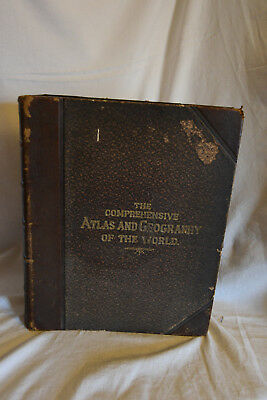 THE COMPREHENSIVE ATLAS & GEOGRAPHY OF THE WORLD 1882, Blackie