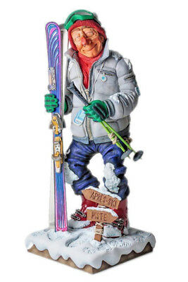 The Skier Sculpture Guillermo Forchino ~ Hand Made Detailed & Painted