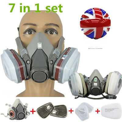 7 in 1 For 3M 6200 Premium Half Face Spray Paint Dust Mask Respirator Filter