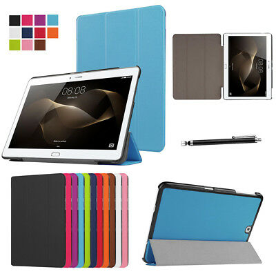 Magnetic Smart Leather Folio Flip Case Cover Huawei MediaPad M3 M5 M5 Lite T3 T5