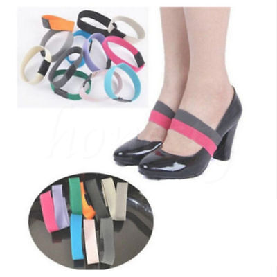 Colored Elastic Shoe Strap Lace Band For Holding Loose High Heel Shoes Decor