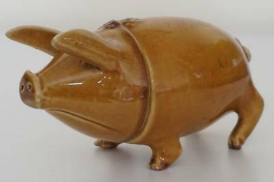 Rare Antique Sussex Pig Drinking Cup Or Vessel - Rye Pottery - c.1900
