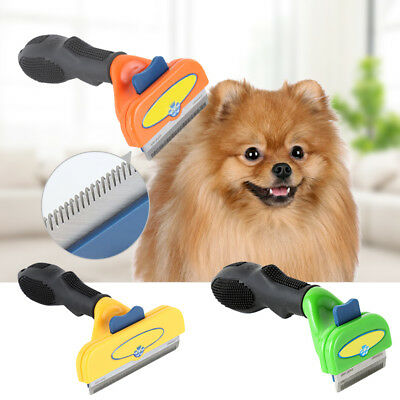 De-Shedding Tool Blade Short Large Hair Cleaning Removal Brush For Dogs