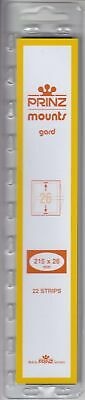 Prinz/Scott Stamp Mount Strips 215mm x 26mm Clear For US Self Adhesive New Pack