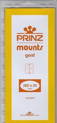 Prinz/Scott Long Stamp Mount Strips 265x25mm Clear Holders For Coil Strip Of 11