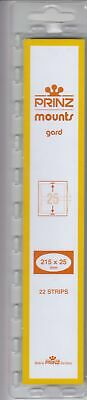 Prinz/Scott Clear Stamp Mount Strips 215 x 25mm For US Commemorative + Regular