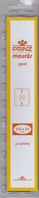Prinz/Scott Long Stamp Mount Strips 215x24mm Clear For Canada & Great Britain GB