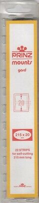 Prinz/Scott Long Stamp Mount Strips 215mm x 20mm Clear For US 19 Century Minis