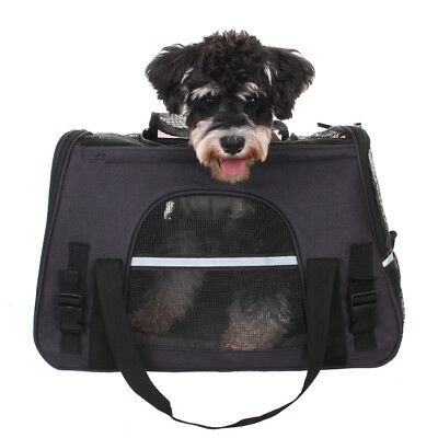 Pet Carrier Soft Sided Cat Dog Comfort Tote Bag Travel Airline Approved 3 Colors