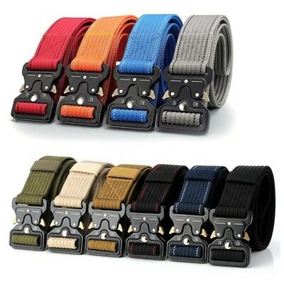 Men Military Tactical Nylon Waistband Strap Outdoor Sports Resistant Canvas Belt