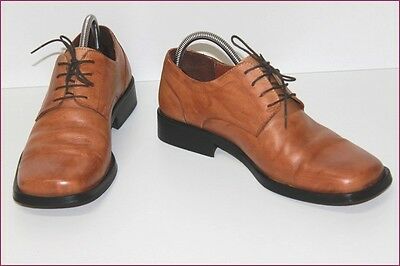 MC LOGAN Derby shoes Lace All Brown Leather Caramel T 42 BE