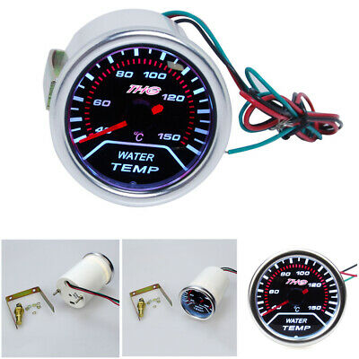 "Water Temperature Gauge 2"" / 52mm Car Led Water Temp Celsius Gauge with Sensor"