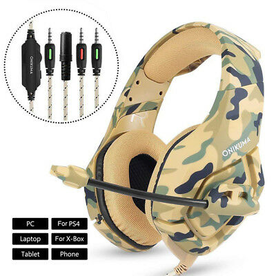ONIKUMA K1 Stereo Bass Gaming Headset Headphone for PS4 Pro Xbox One PC with Mic