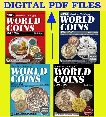 2019 KRAUSE 4pcs set Standard Catalogs of World Coins 1701-2018 (digital books)
