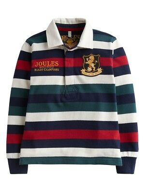 Joules Boys Winner Rugby Shirt - Ages - 5 - 6 - 7-8 - 9-10 - Colour Red Stripe