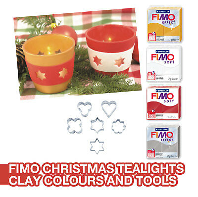 Fimo Soft And Effect Christmas Tealights Making Kit