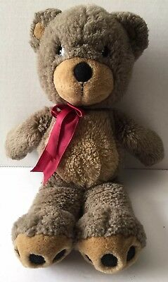 "PRECIOUS MOMENTS Vintage 16"" Teddy BEAR Stuffed Animal Plush Brown Well Loved"