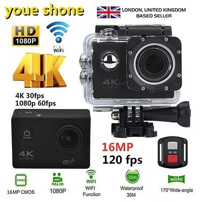 Ultra 4K Full HD DV 1080P Waterproof DVR Sports Camera WiFi Cam Action Camcorder