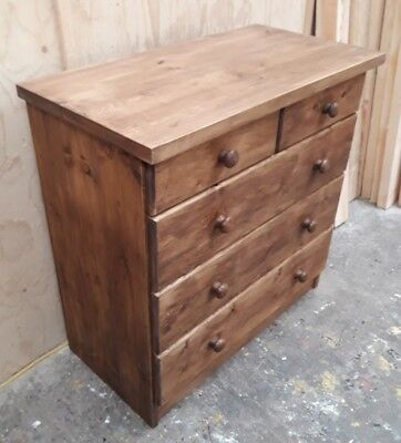 Handmade Rustic Solid Pine Chest of Drawers
