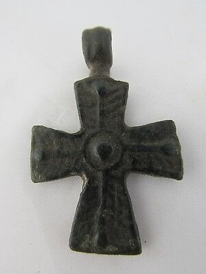 Authentic Antique Byzantine Bronze Cross circa 9th - 12th century CR01