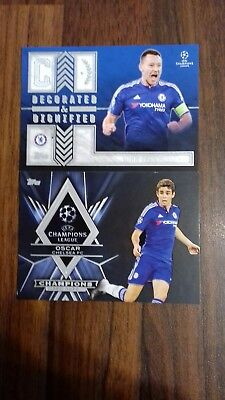 2015-16 TOPPS CL CHAMPIONS LEAGUE SHOWCASE chelsea terry and oscar